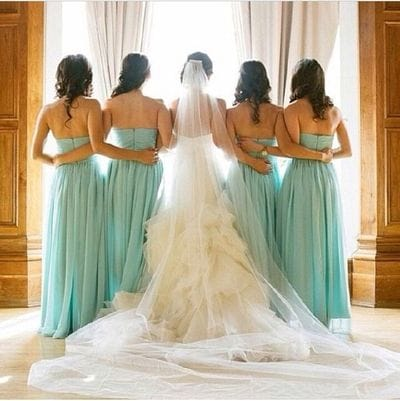 Тренды платьев для подружек невесты 2018
