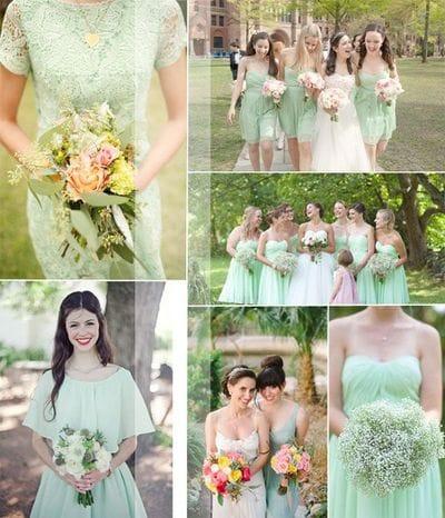 Зеленая палитра - интересная идея для оформления свадьбы