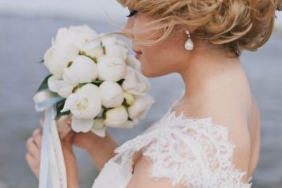 Свадебные букеты из пионов