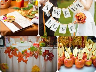 Осенние свадебные палитры для вдохновения