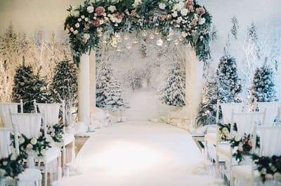 Топ зимних трендов в декоре свадьбы