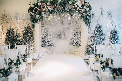 Топ зимових трендів в декорі весілля