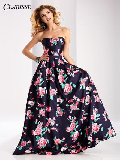 Вечерние платья с цветочным принтом