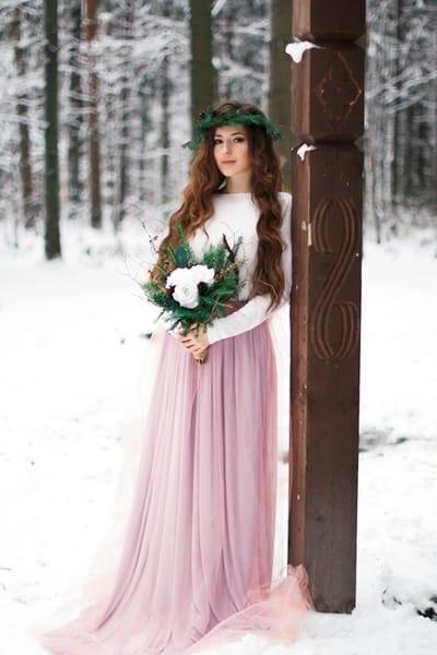 Образ невесты «Зимняя фея»