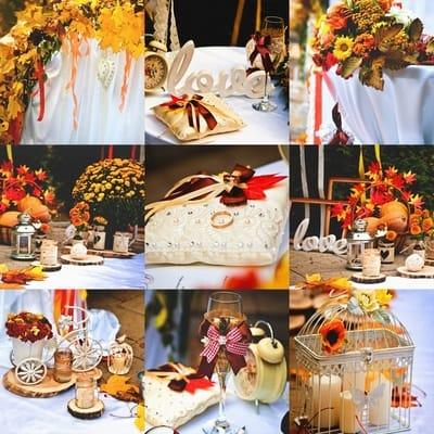 ТОП-10 цветовых решений для осенней свадьбы