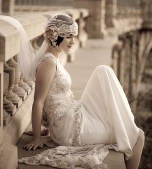 Винтажная загадка в образе невесты