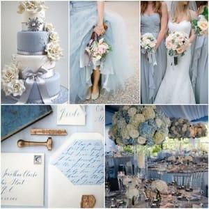 Комбинирование цветов при оформлении свадьбы