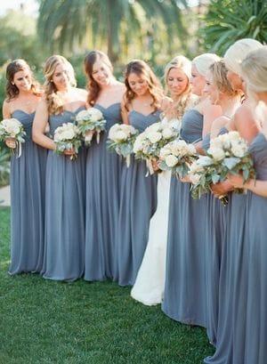Как подобрать вечерние платья для подружек невесты