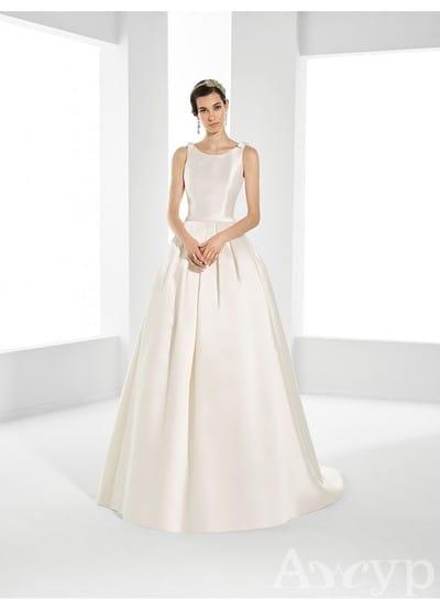 15 шикарных атласных свадебных платьев