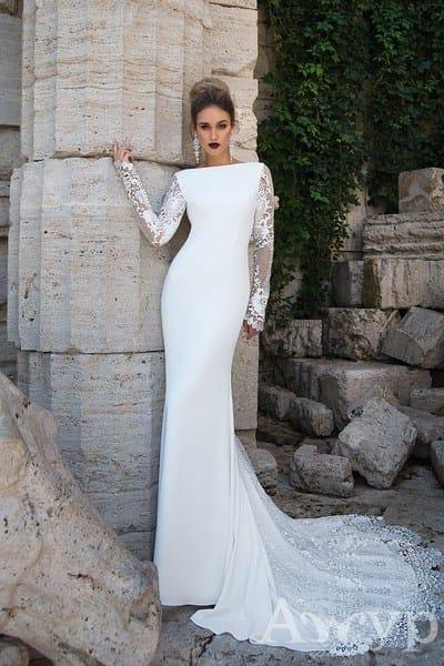 Лучшие свадебные платья с длинным рукавом от салона Гранд Ажур