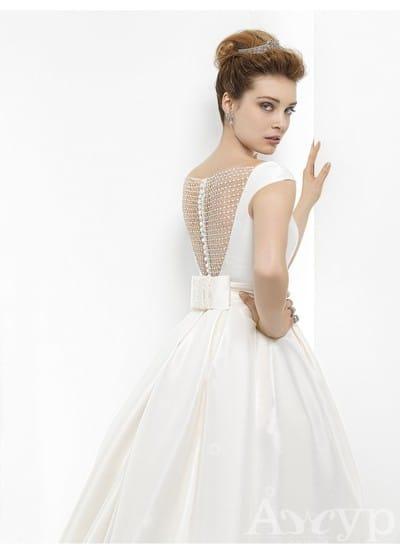 Красивые свадебные платья из атласа