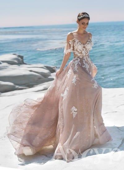 Будьте дерзкой и красивой в цветном свадебном платье
