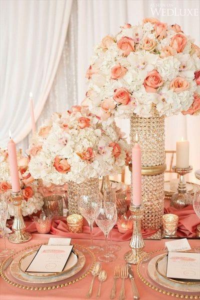 Коралловый – Pantone 2019-го года в оформлении свадьбы