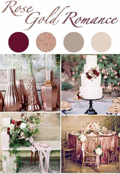 Свадебные идеи: розовое золото