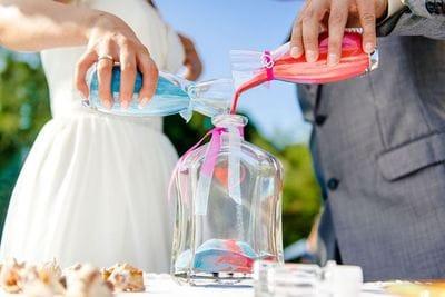 Пісочна церемонія на весіллі