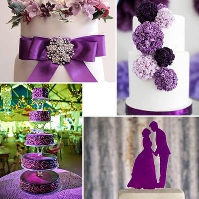 Пантон 2018 Ultra Violet в оформлении свадьбы